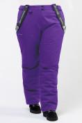 Оптом Брюки горнолыжные женские большого размера фиолетового цвета 1878F в Екатеринбурге, фото 6