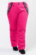 Оптом Брюки горнолыжные женские большого размера розового цвета 1878R в Екатеринбурге, фото 6