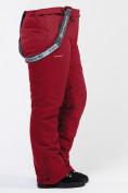 Оптом Брюки горнолыжные женские большого размера бордового цвета 1878Bo в Казани, фото 7
