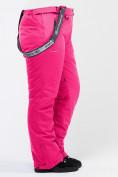 Оптом Брюки горнолыжные женские большого размера розового цвета 1878R в Екатеринбурге, фото 7