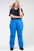 Оптом Брюки горнолыжные женские большого размера голубого цвета 1878Gl в  Красноярске
