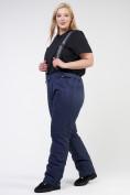Оптом Костюм горнолыжный женский большого размера черного цвета 021982Ch, фото 16