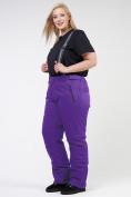 Оптом Брюки горнолыжные женские большого размера фиолетового цвета 1878F в Екатеринбурге, фото 4