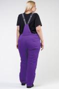 Оптом Брюки горнолыжные женские большого размера фиолетового цвета 1878F в Екатеринбурге, фото 5
