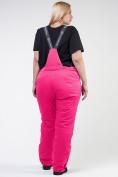 Оптом Брюки горнолыжные женские большого размера розового цвета 1878R в Екатеринбурге, фото 5