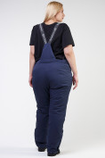 Оптом Костюм горнолыжный женский большого размера черного цвета 021982Ch, фото 20