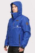 Оптом Куртка горнолыжная мужская синего цвета 1901S в Казани, фото 5