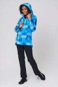 Оптом Костюм женский softshell синего цвета 01923S в  Красноярске, фото 9