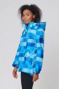 Оптом Костюм женский softshell синего цвета 01923S в  Красноярске, фото 4