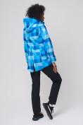 Оптом Костюм женский softshell синего цвета 01923S в Екатеринбурге, фото 5