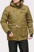 Оптом Куртка горнолыжная мужская цвета хаки 1910Kh в  Красноярске