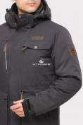 Оптом Куртка горнолыжная мужская темно-серого цвета 1910TC в  Красноярске, фото 4