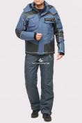 Оптом Костюм горнолыжный мужской голубого цвета 01912Gl