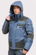 Оптом Костюм горнолыжный мужской голубого цвета 01912Gl, фото 4