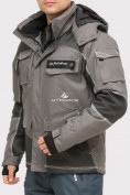 Оптом Куртка горнолыжная мужская серого цвета 1912Sr, фото 2