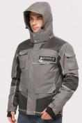 Оптом Куртка горнолыжная мужская серого цвета 1912Sr, фото 3