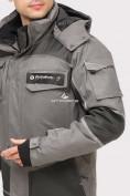 Оптом Куртка горнолыжная мужская серого цвета 1912Sr, фото 5