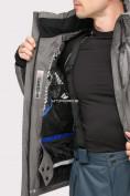 Оптом Куртка горнолыжная мужская серого цвета 1912Sr, фото 6