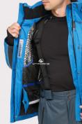 Оптом Костюм горнолыжный мужской синего цвета 01912S в Казани, фото 7