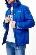 Оптом Молодежная куртка мужская синего цвета 1913S в Екатеринбурге, фото 4