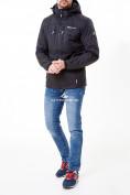 Оптом Молодежная куртка мужская черного цвета 1913Ch в Казани, фото 2