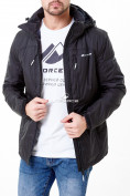 Оптом Молодежная куртка мужская черного цвета 1913Ch в Казани, фото 5