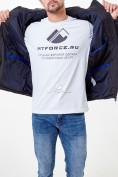 Оптом Молодежная куртка мужская черного цвета 1913Ch в Казани, фото 8