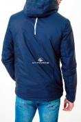 Оптом Молодежная куртка мужская темно-синего цвета 1913TS в Казани, фото 3