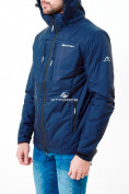 Оптом Молодежная куртка мужская темно-синего цвета 1913TS в Казани, фото 4