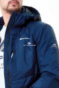 Оптом Молодежная куртка мужская темно-синего цвета 1913TS в Казани, фото 6
