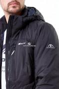 Оптом Молодежная куртка мужская черного цвета 1913Ch в Казани, фото 6