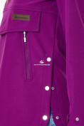 Оптом Анорак softshell женский фиолетовго цвета 1914F в Казани, фото 6