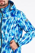 Оптом Ветровка softshell мужская синего цвета 1915S в Казани, фото 4