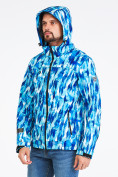 Оптом Ветровка softshell мужская синего цвета 1915S в Казани, фото 6