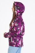 Оптом Ветровка softshell женская фиолетового цвета 1977F в Казани, фото 5