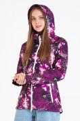 Оптом Ветровка softshell женская фиолетового цвета 1977F в Казани, фото 7