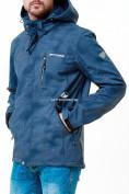 Оптом Ветровка softshell мужская синего цвета 1920S в Казани, фото 6