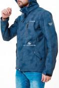 Оптом Ветровка softshell мужская синего цвета 1920S в Казани, фото 3
