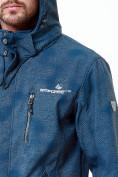 Оптом Ветровка softshell мужская синего цвета 1920S в Казани, фото 4