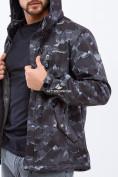 Оптом Ветровка softshell мужская темно-серого цвета 1920TC в Казани, фото 5