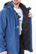 Оптом Костюм мужской большого размера softshell синего цвета 01921-1S в Казани, фото 5