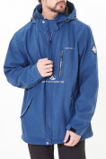 Оптом Костюм мужской большого размера softshell синего цвета 01921-1S в Казани, фото 2