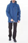 Оптом Костюм мужской большого размера softshell синего цвета 01921-1S в Казани