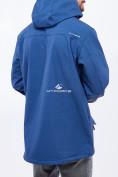 Оптом Ветровка softshell мужская большого размера синего цвета 1921S в  Красноярске, фото 3