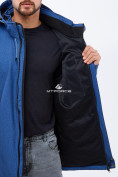 Оптом Ветровка softshell мужская большого размера синего цвета 1921S в  Красноярске, фото 5