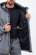 Оптом Ветровка softshell мужская большого размера серого цвета 1921Sr в  Красноярске, фото 5