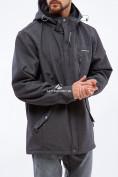 Оптом Ветровка softshell мужская большого размера темно-серого цвета 1921TC в  Красноярске, фото 2