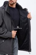 Оптом Ветровка softshell мужская большого размера темно-серого цвета 1921TC в  Красноярске, фото 5