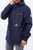 Оптом Ветровка softshell мужская большого размера темно-синего цвета 1921TS в Екатеринбурге, фото 2