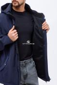 Оптом Ветровка softshell мужская большого размера темно-синего цвета 1921TS в Екатеринбурге, фото 5